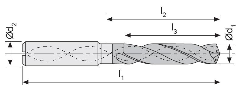 M301 - Karbür Matkap, Ýçten Soðutmalý