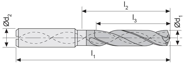 M801 - Karbür Matkap, Ýçten Soðutmalý